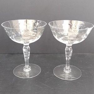 Other - Vintage Sherbet Champagne Glasses Set of 2